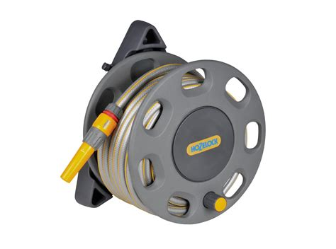 wall mounted garden hose reel 30m wall mounted reel with 15m hose 2422 hozelock