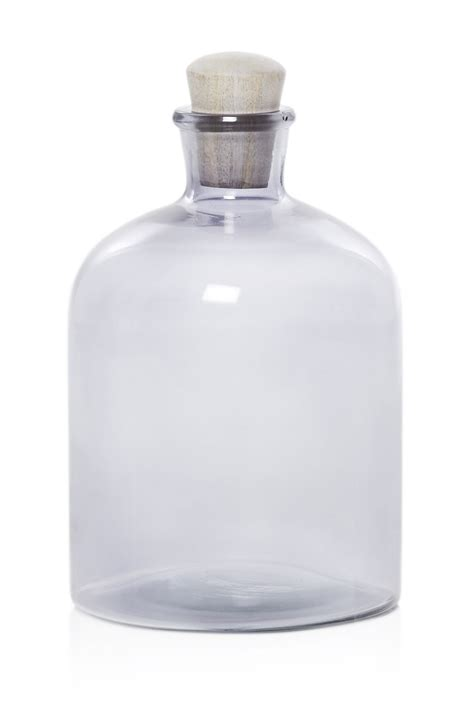 large glass large glass bottle with stopper home season