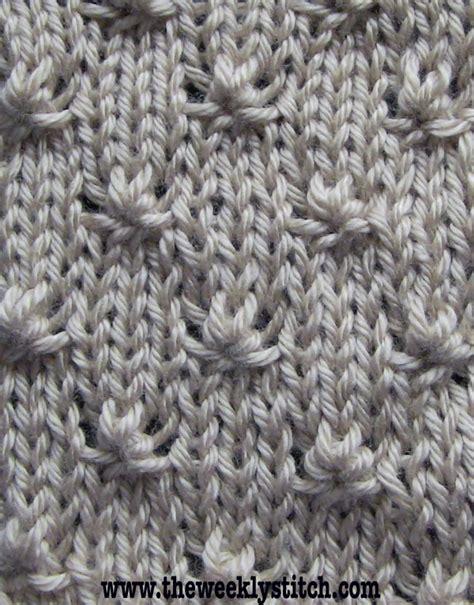 how do i make a stitch in knitting knot stitch the weekly stitch