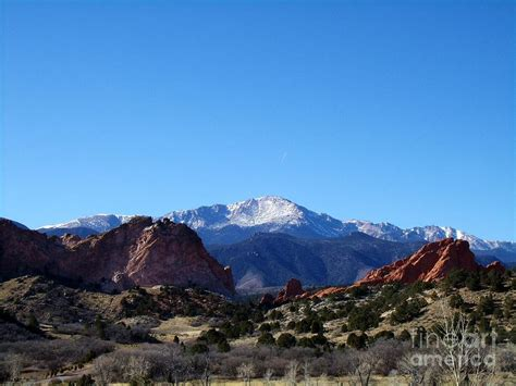 Garden Of The Gods To Pikes Peak Pikes Peak And Garden Of The Gods Photograph By Donna Parlow