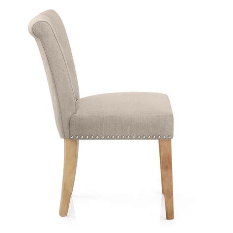 silla de comedor silla de comedor buckingham tapizada en tela y patas de madera