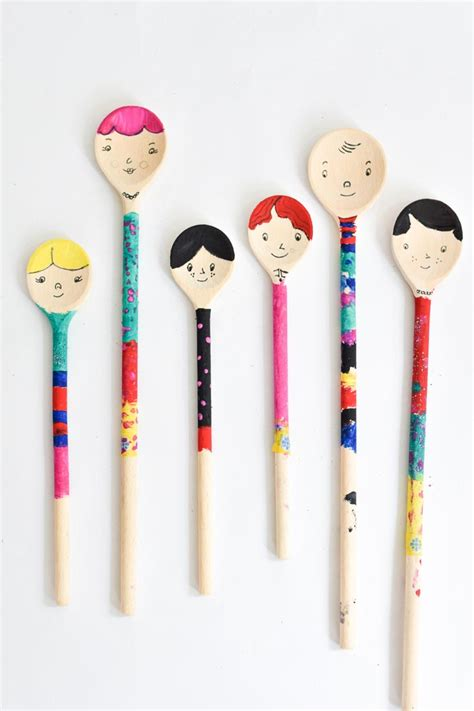 wooden spoon crafts for diy wooden spoon puppet craft from bloesem craft