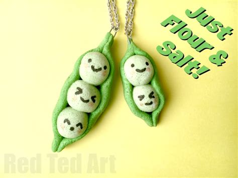 easy friendship crafts for salt dough pendants kawaii peas in a pod ted s