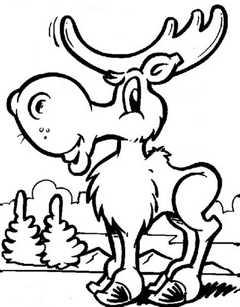 coloring book pictures free printable moose coloring pages for