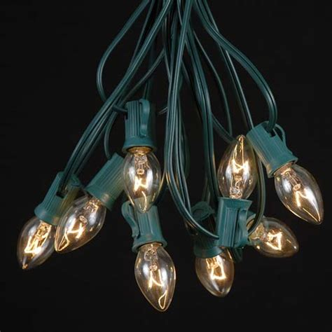 c7 string lights c7 green wire light string sets novelty lights inc