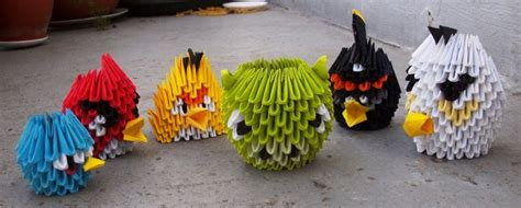 origami angry birds 3d origami paper 30 amazing modular character crafts