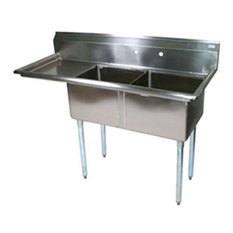 industrial kitchen sinks bk bks 2 18 12 18l two compartment sink commercial