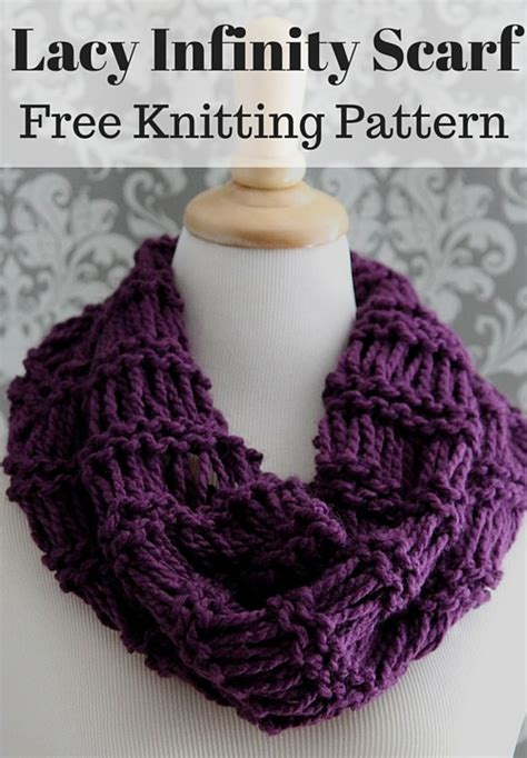 free infinity scarf knitting pattern lacy infinity scarf free knitting pattern