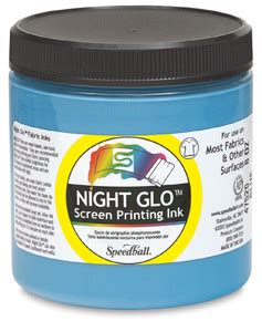glow in the paint blick speedball glo fabric screen print ink blick
