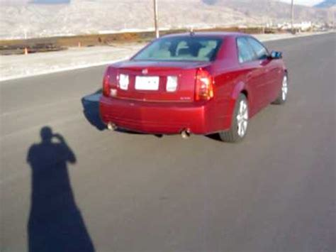 car rubber sts sts turbo cadillac cts v lays some rubber