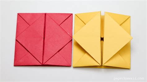 how to make an origami envelope step by step origami envelope box paper kawaii