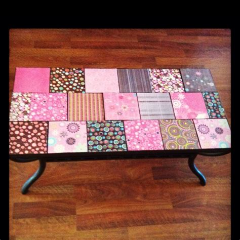 decoupage furniture with scrapbook paper 9 best images about table on decoupage table