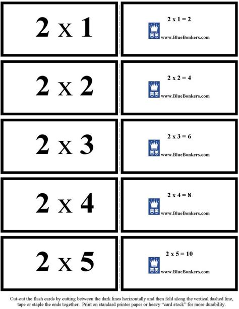 how to make multiplication flash cards 7 best images of math fact flash cards printable