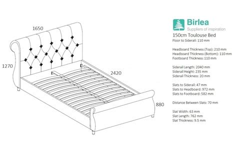 toulouse bed frame birlea toulouse fabric bed frame