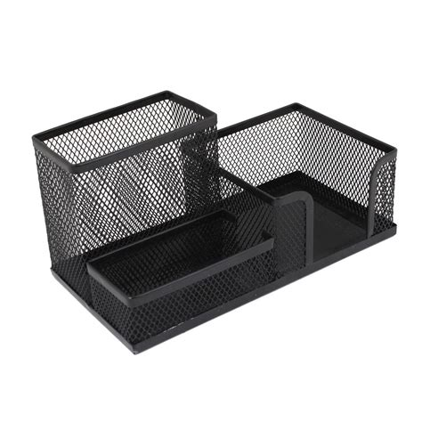 students office desk mesh style 3 compartments metal pen