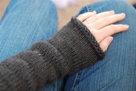 how to knit wrist warmers magic loop method the by the sea