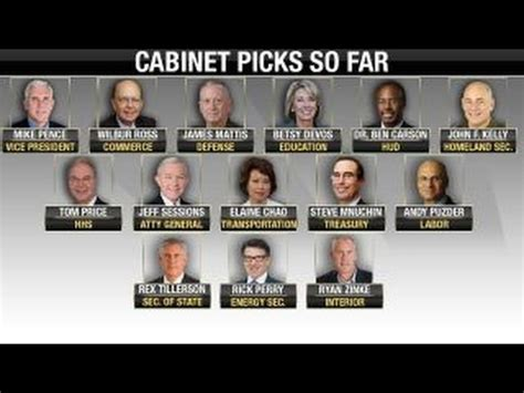 Cabinet Picks by Will All S Cabinet Picks Be Approved