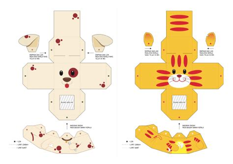 animal paper crafts templates 20 finger puppet papertoys paper fr