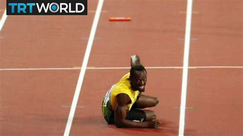 Usain Bolt Crash by Bolt S Last Run Usain Bolt Crashes Out Of His Last