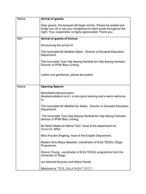 emcee script for emcee script for annual dinner by otago 2012 teachers