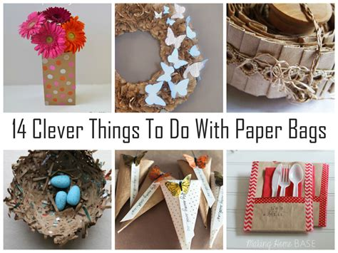 how to make craft things with paper 14 clever things to do with paper bags