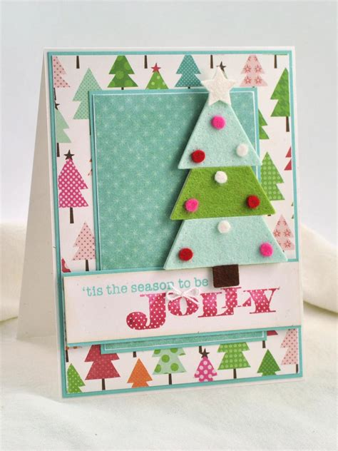 make handmade cards 3 d felt tree card hgtv