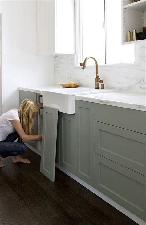 spray paint kitchen cabinets farrow and light blue gray paint color