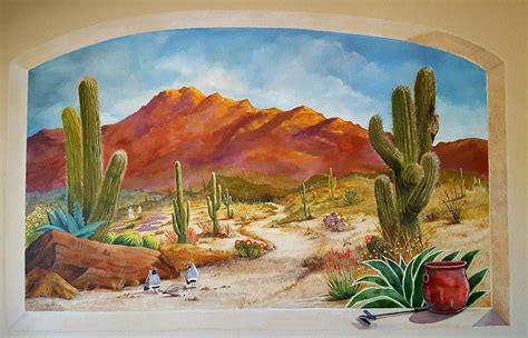 painting wall murals a walk in the desert wall mural painting by marilyn smith