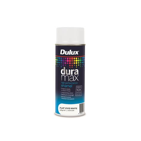 spray painter responsibilities dulux duramax 340g flat white spray paint ebay