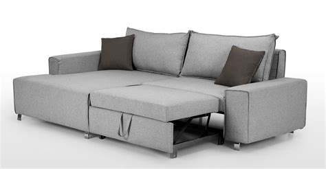 best corner sofa bed mayne left facing corner sofa bed clear grey