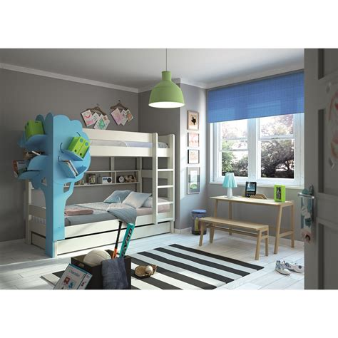 bookcase bunk beds bunk bed with tree bookcase in white blue