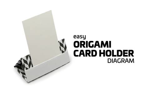 origami credit card holder easy origami card stand tutorial