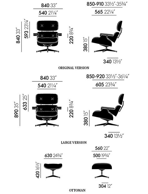 Eames Lounge Chair Dimensions by Vitra Eames Lounge Chair Ottoman Charles And Eames