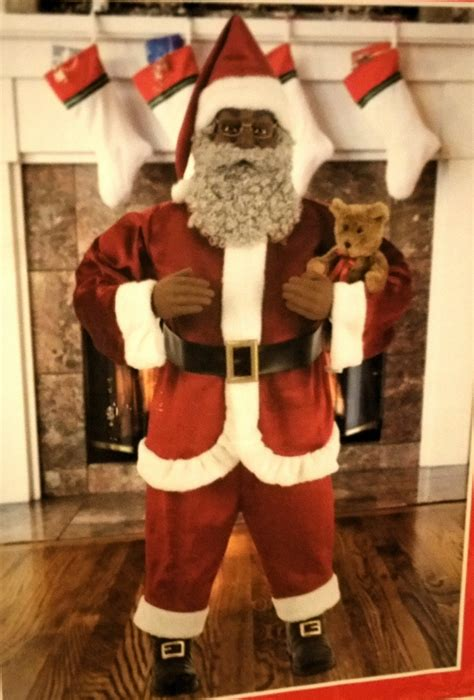 size animated santa size american animated black santa claus 5 ft