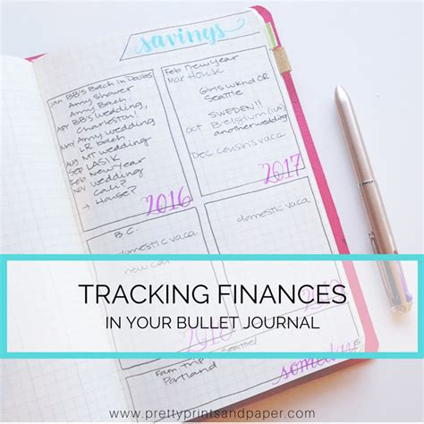 financial planning in my bullet journal pretty prints