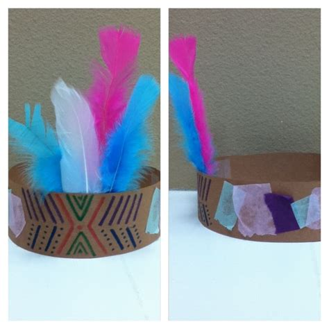 crafts with paper and markers indian headdress craft using construction paper markers