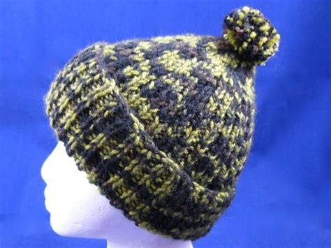 easy bobble hat knitting pattern adults ribbed bobble hat knitted bobble hat knitted