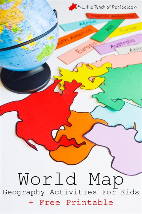 geography crafts for world map geography activities for free printable