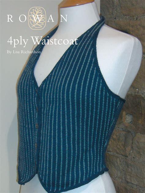 knitting pattern for waistcoat 4 ply waistcoat pattern knit rowan