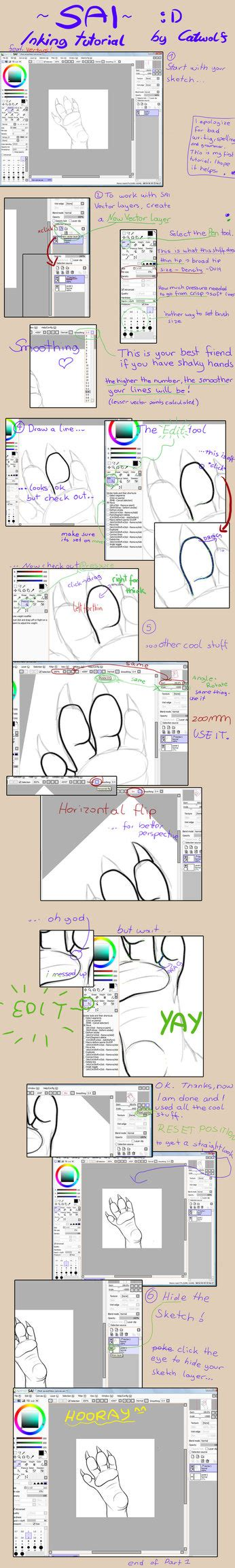 paint tool sai vector layer tutorial sai vector layer tutorial by catwolf on deviantart