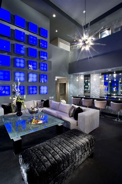gray interior design 1st place masculine interior design glammed out interior design cobalt blue gray black silver hues re