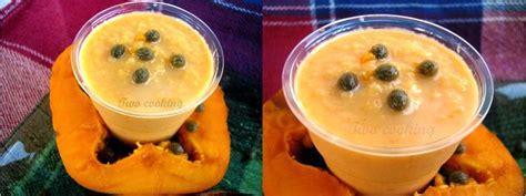 bavaroise 224 la papaye et biscuit chocolat 233 two cooking