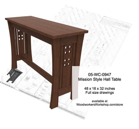 mission style woodworking plans 05 wc 0947 mission style sofa table woodworking plan