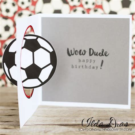 football birthday cards to make 25 best ideas about soccer cards on card