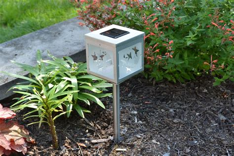 solar garden lights frosted moon solar garden light solar lights