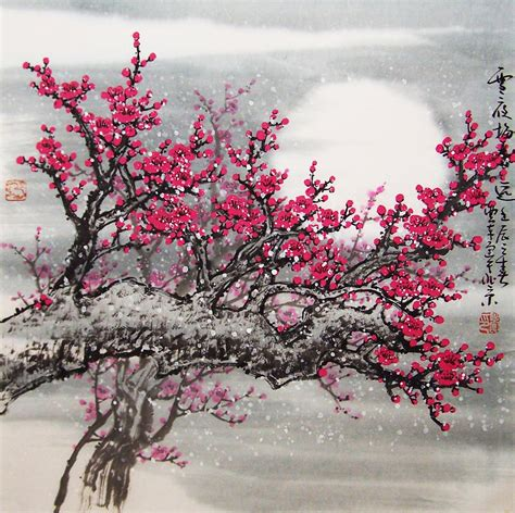 original painting lovely cherry