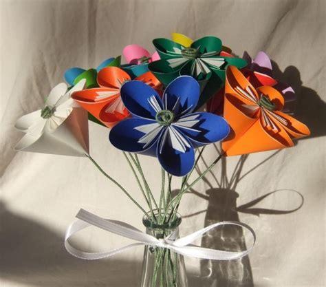origami flower arrangements rainbow origami flower bouquet aftcra