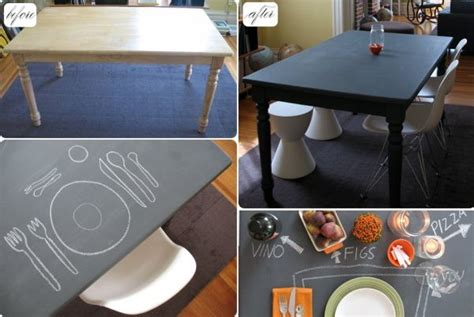 chalkboard paint table 10 diy chalkboard table designs for a fresh and new look
