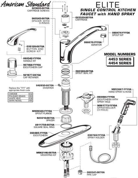 american standard kitchen faucet troubleshooting repair