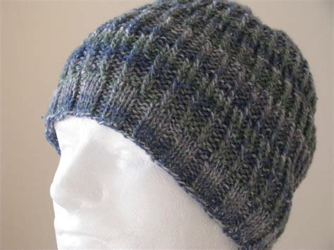 knit hat mens instant mens knit hat sock yarn hat knitting pattern